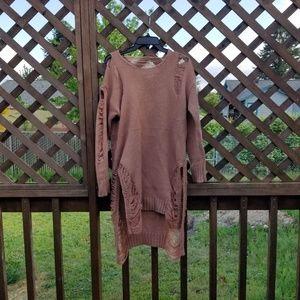 Dolls Kill distressed sweater dress